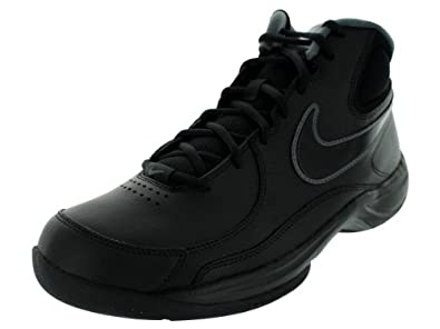 Nike Mens The Overplay VII Leather Basketball Shoe, Black, US 11