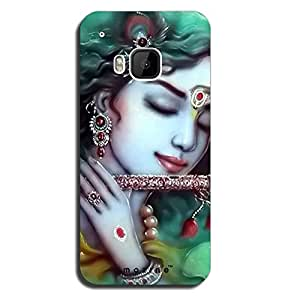 Mozine Lord Krishna Printed Mobile Back Cover For HTC One M9