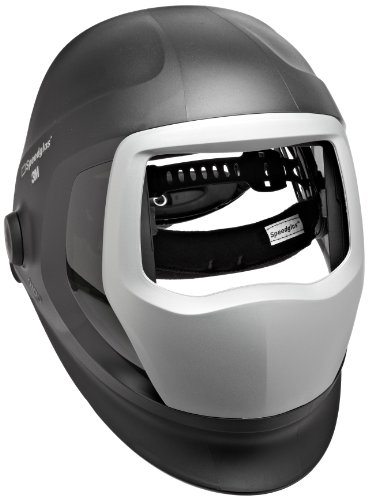 3M Speedglas Helmet 9100, Welding Safety 06-0300-51SW, with SideWindows with Headband and Silver Front Panel,