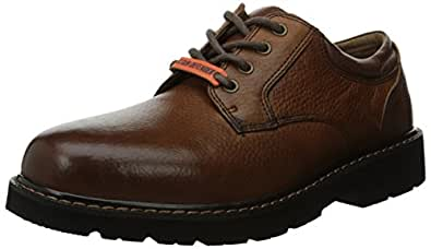 Dockers Men's Shelter Plain Toe Oxford,Dark Tan,7 M US