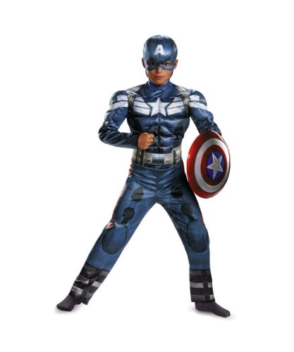 Boys Captain America Movie 2 Classic Muscle Kids Costume