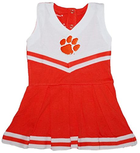 Clemson Tigers NCAA Newborn Baby Cheerleader Bodysuit Dress