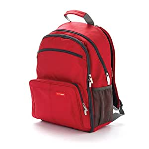 skip hop via backpack diaper bag red discontinued by manufactu. Black Bedroom Furniture Sets. Home Design Ideas