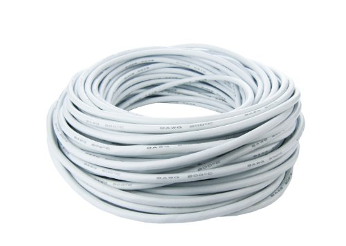 Silicone Wire - Fine Strand - 12 Gauge - 25 ft. White by Common Sense RC