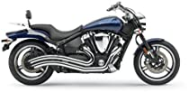 Cobra Speedster Swept Chrome Exhaust System for 2002-2010 Yamaha XV1700PC Road Star Warrior