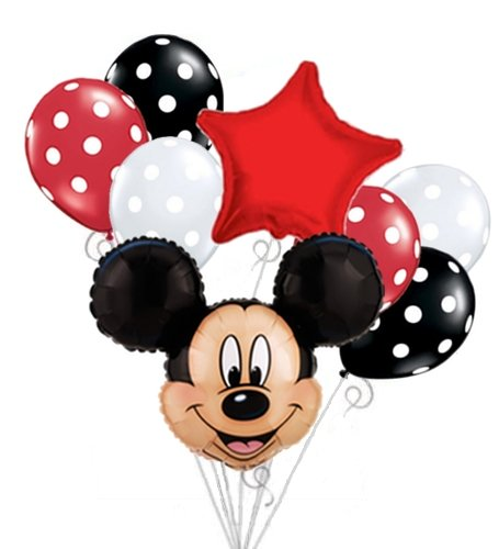 Mickey Mouse Head Balloon Bouquet Set Birthday Baby Shower Party Decoration - 1