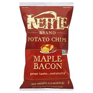 Kettle Maple Bacon Potato Chips, 8.5 Ounce -- 12 per case.