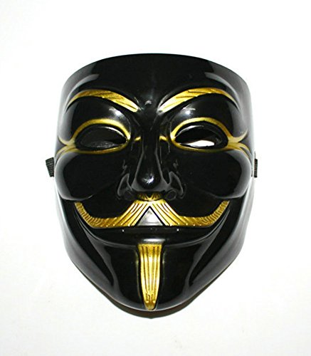Gmasking PVC Black V for Vendetta Mask