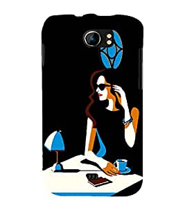 Focus Girl with Cup Of Coffee Cute Fashion 3D Hard Polycarbonate Designer Back Case Cover for Micromax Canvas 2 A110Q :: Micromax A110Q Canvas 2 Plus :: Micromax Canvas 2 A110