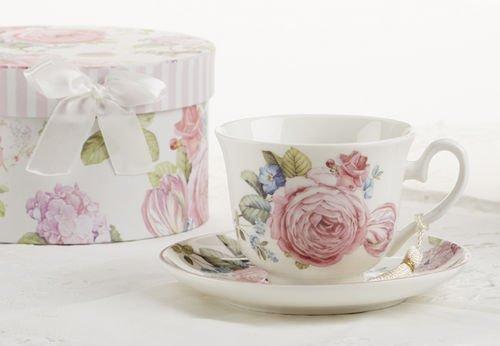 Tasse--th-et-soucoupe-en-porcelaine-dans-un-coffret-cadeau-Pivoine