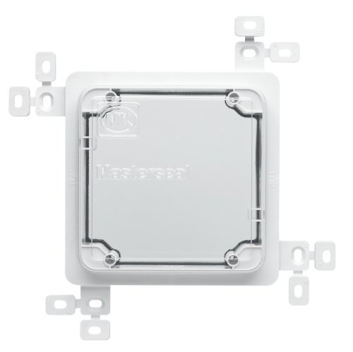 MK Masterseal Plus K56500WHI 1-Gang Plaster/Tile Flush Mounting Frame with Protective Cover
