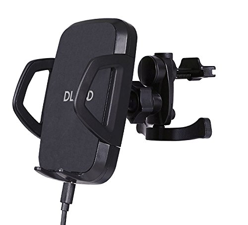 DLAND Qi Wireless Car Charger with Triple-Coil Fast-Charging, Supporting Samsung Galaxy S6/S6 Edge, Google Nexus 5, LG G3/G2 and Qi-Enabled iPhone 6s/6 Plus/6/5s/5c/5 (Iphone Car Charger Coil compare prices)