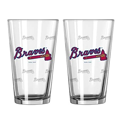 MLB Braves Pint Glasses | Atlanta Braves Beer Glasses, Set of 2