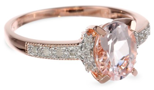 Rose Gold Plated Sterling Silver Morganite and