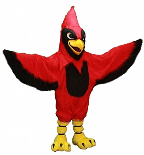 Costume City Men's Fighting Cardinal Mascot Costume One Size Red