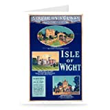 Carisbrooke castle, Osbourne House and Whippingham Castle - Sights of Isle Of Wight - Greeting Card (Pack of 2)