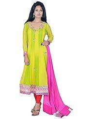 Tehzeeb Women's Faux Georgette Anarkali Salwar Suit - B016BH2J6I