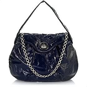 Marc by Marc Jacobs Totally Turnlock Posh Shoudler Bag Tote Indigo
