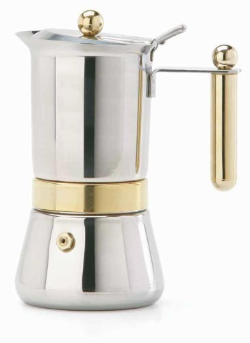 Vev Vigano 8160 Vespress Gold 12 to 14 cup espresso pot