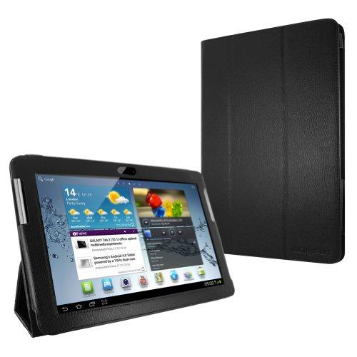 """MiniSuit Case / Schutzhülle mit Ständer, PU-Leder, Samsung Galaxy Tab 2 P5100 10,1"""", Schwarz"""