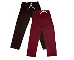 IndiWeaves Women Super Combo Pack 4 (Pack of 2 Lower/Track Pant and 2 T-Shirt)_Brown::Brown::Maroon::Red::White_XXL