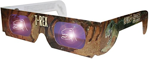 Holographic T-Rex Wild Eyes 3D Animal Glasses