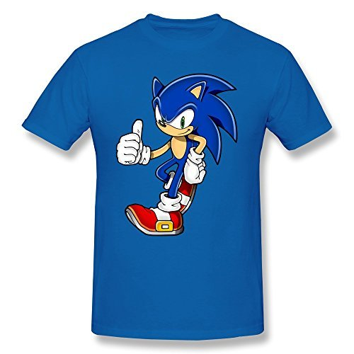 Boy Cool Sonic Hedgehog Custom Causal RoyalBlue T Shirt By Mjensen (Cool Customs compare prices)