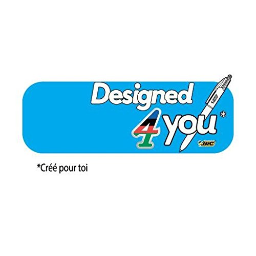 Bic stylo bille 4 couleurs design 4 you pte moy 4 for Design 4 you