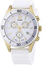 Timex Originals Quartz Watch with White Dial Chronograph Display and White Silicone Strap T2N827PF