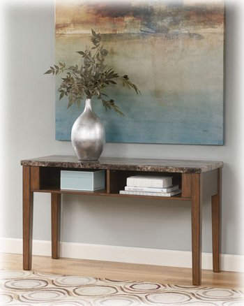 Cheap Warm Brown Console Sofa Table – Signature Design by Ashley Furniture (T158-4)