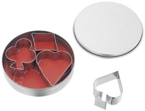 Set Of Playing Card Cookie Cutters