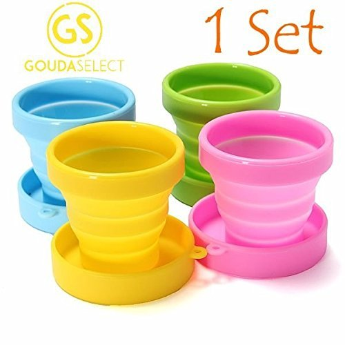 gouda-select-collapsible-silicone-cup-for-travel-camping-school-outdoor-4-cups-4-colors-by-gouda-sel