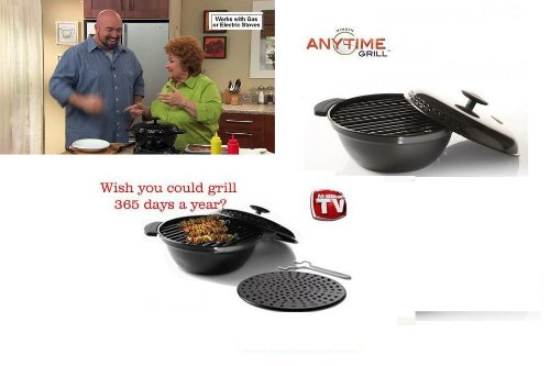 Minden Anytime Grill- Mgd01 Black For Use W/Gas & Electric Stovetops As Seen On Tv