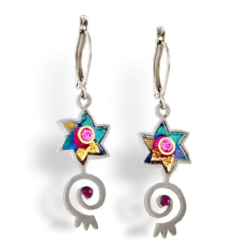 Judaic Star & Spiral Earrings from the Artazia Collection #250 JE