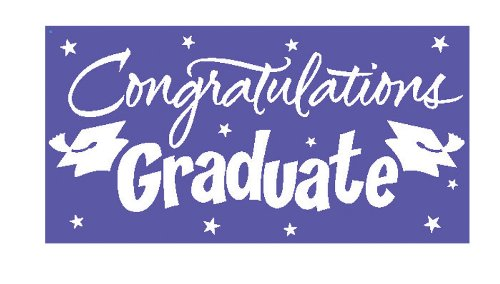 Creative Converting Congrats Grad Paper Art Gigantic Greetings, Purple
