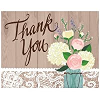 Rustic Wedding Foldover Thank You Cards 8 Per Pack by Creative Converting