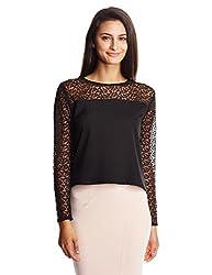 Anaphora Women's Body Blouse Shirt (56904_Black_Medium)