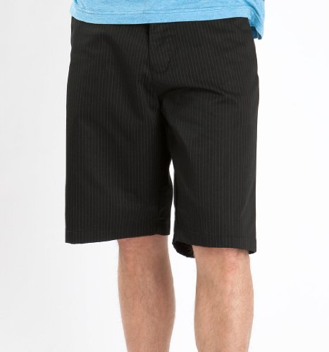 Volcom Friggin Chino Stripe Short - Black X 32