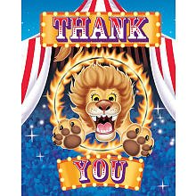 Creative Converting Big Top Birthday Thank Yous - 8 ct