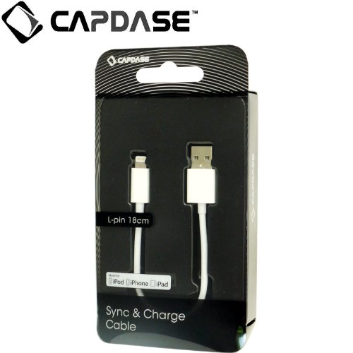 CAPDASE 日本正規品 【Apple認証 Made for iPhone取得】 Sync & Charge Cable Lightning - 18cm Apple iPhone, iPod Touch5, iPad mini Retina, iPad Air 対応 HCCB-L2G2