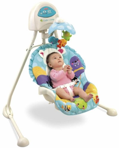 Fisher Price Precious Planet Blue Sky Cradle N Swing Guide Fisher