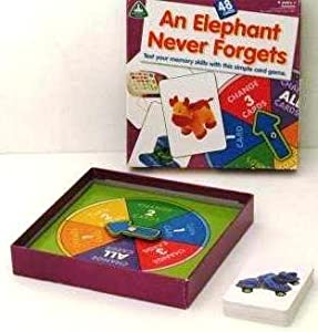 an elephant never forgets memory card game toys games. Black Bedroom Furniture Sets. Home Design Ideas