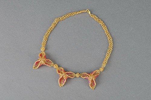 Collana di perline fatta a mano originale di moda bigiotteria da donna