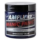 NEW VEGAN SEMI PERMANENT BY MANIC PANIC AMPLIFIED SHOCKING BLUE HAIR DYE COLOUR