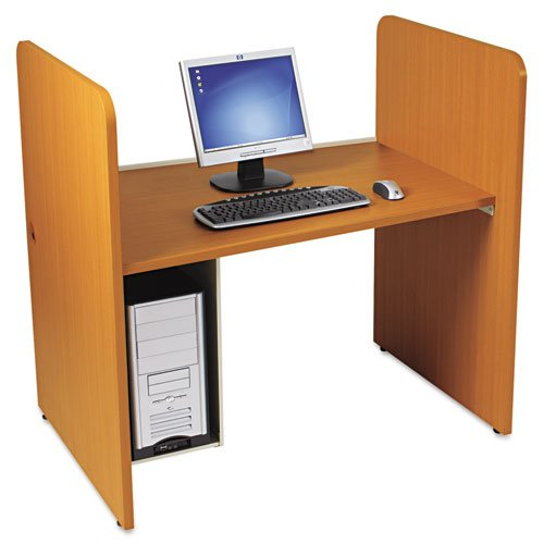 BALT Products - BALT - H Carrel, Laminate, 43w x 27-3/4d x 42h, Medium Oak - Sold As 1 Each - Sophisticated and private work areas. - 1