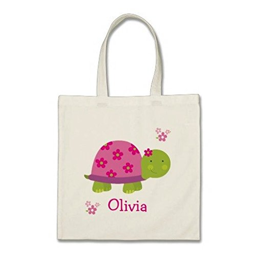 cute-turtle-personalized-cotton-canvas-tote-bag-for-girl