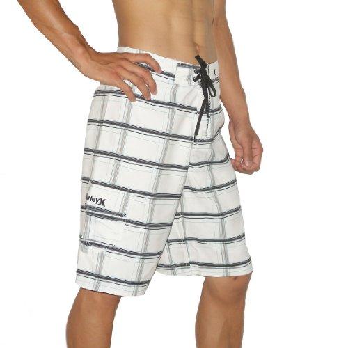 Mens Hurley Skate & Surf Boardshorts Board Shorts - White (Size: 34)