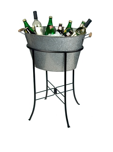Artland Oasis Party Tub with Stand, Galvanized, Metal (Beverage Cooler Stand compare prices)
