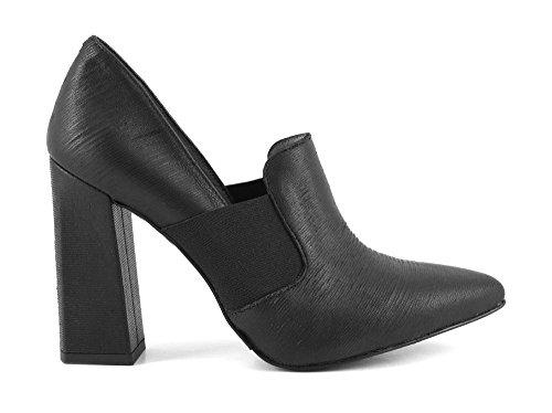 CAFè NOIR MA442 nero scarpe donna decolletè punta elastico tacco grosso 40
