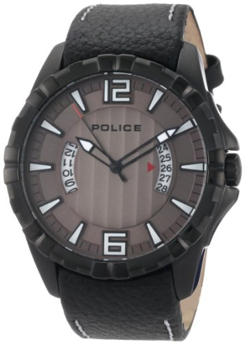 Police Men's Profile Watch 12889JSB/61 with Leather Strap